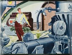 """Cover art of """"Robots Have No Tails"""" by Lewis Padgett"""