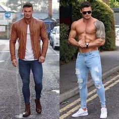 Left or Right? - Style - Hottest Men's and Trending Styles - Celebrities and Pop - Inspiration for Bargain Hunters - Street Fashion Guide for Fashionistas and Shopaholics - Casual Men's and Accessories - Magazine Advertising and E Look Man, Stylish Mens Outfits, Hommes Sexy, Muscular Men, Mens Clothing Styles, Mens Fashion, Fashion Guide, Street Fashion, Trendy Fashion