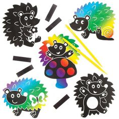 Hedgehog Scratch Art Magnets Perfect For Childrens Arts Crafts And Decorating For Boys And Girls Pack of 10 ** For more information, visit image link. (This is an affiliate link) #ArtDIYCraftsKitsToysandGames