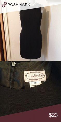 "Stonebridge. Classic Black Sleeveless, fitted Classic Black. Zipper 21"". 6"" split in back. Stonebridge Dresses"