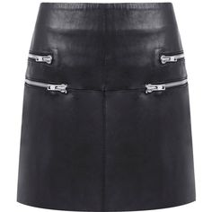 Walter Baker - Racine zippered leather mini skirt (5.285.440 IDR) ❤ liked on Polyvore featuring skirts, mini skirts, saias, zipper skirt, mini skirt, short leather skirt, panel skirt and bubble skirt