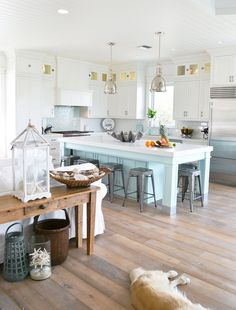 230 Best Beachy Kitchens Images On Pinterest | Kitchen White, Kitchen  Dining Living And Nautical