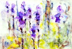 "Saatchi Online Artist Karin Johannesson; Painting, ""Irises"" #art"