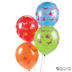 Dino-Mite Latex Balloons, Latex Balloons, Balloons & Streamers, Party Themes & Events - Oriental Trading
