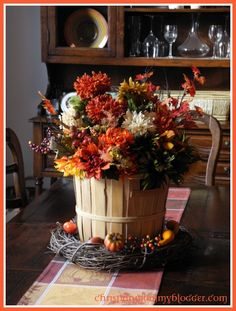 Love this centerpiece from Christian Mommy Blogger