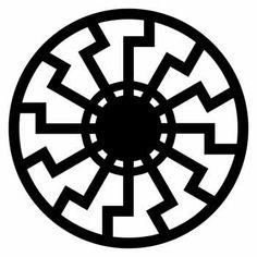 Symbol representing the black sun