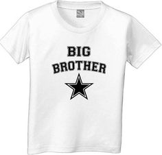 Big brother with star tshirt toddler youth by CustomTeesForTots, $15.00