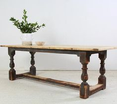 Rustic Farmhouse table... Just arrived  H76 W243 D81 #modernrustic  #interiordesign #countryhomes  #countryliving  #hoteldesign#kitchendesign #design #largediningtable  #stylist #stylishliving #uniquepieces  #antiques #antonandk  @antonandkantiques SOLD