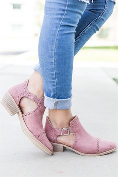 39bf9c0b781d Cut Out Ankle Heel Booties Clearance