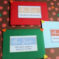 """Cartas """"Abra Quando"""" + 30 tags para os envelopes"""