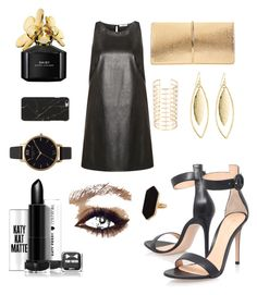 """Party #black & #gold"" by chiarettica on Polyvore featuring moda, Gianvito Rossi, Marc Jacobs, Olivia Burton, Jaeger, Fragments e Nina Ricci"