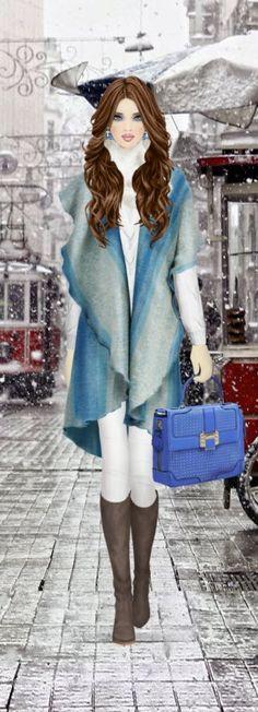 First Snow in Instanbul (первый снег) Moda Fashion, Fashion Dolls, Fashion Art, Girl Fashion, Womens Fashion, Fashion Dress Up Games, Covet Fashion Games, Fashion Outfits, Express Fashion