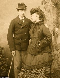 Siblings: Prince Leopold with his sister Princess Louise