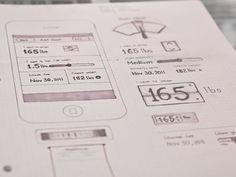 Sample iOS Wireframe for Food Goal Sketch Web Design, Web Design Examples, News Web Design, App Ui Design, Mobile App Design, User Interface Design, Dashboard Design, Mobile Ui, Layout Design
