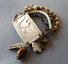 Birds of a Feather Antique Brass by SmallPotatoesJewelry on Etsy, $55.00