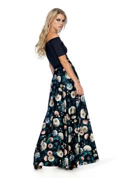 What's hiding at the bottom of this dark garden? Could be fairies, could be something a whole lot scarier. This maxi skirt is made of a deliciously soft, flowin