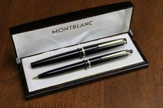 There's a whole bunch of vintage Montblanc items added to the site – pens, pencils, and of course, fountain pens. Vintage Montblanc – Sets Montblanc 32 – 35 Fountain Pen/Mechanical Pencil Set – I love having a complete set. Anderson Pens, Vintage Pens, Mechanical Pencils, Fountain Pen, Mont Blanc, Mechanical Pencil