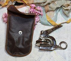 Pocket Sealer EMBOSSER Hand Embossing Notary by VintageSupplyCo