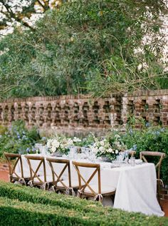 Tablescape | Hillary Hogan and Keith Putnam-Delaney's Garden Wedding in New Orleans