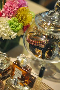 Store bangles you wear most often out in an apothecary jar