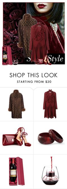 """""""Timee For Wine!"""" by sherry7411 ❤ liked on Polyvore featuring Jean-Paul Gaultier, Chloé and NOVICA"""