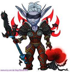 Warcraft gaming computer games art game art chibi cute