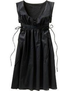cap sleeve apron dress