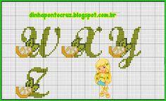Dinha Ponto Cruz: Monograma Limãozinho da turma da moranguinho