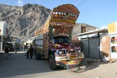 a decorated truck, Pakistan