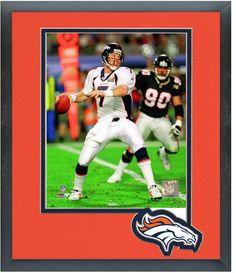 John Elway Broncos Super Bowl XXXIII - 11 x 14 Team Logo Matted/Framed Photo