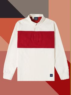 The rugby shirt, the polo's rugged cousin, offers all the ease and comfort of a polo shirt—and then some. Long Sleeve Tee Shirts, T Shirt, Weekend Style, Polo Shirts, Rugby, Gq, Polo Ralph Lauren, Suits, Abstract