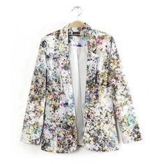 Fresh Garden Meadow Print Suit