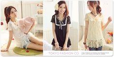 Tokyo Fashion Bow-Neck Lace Tunic