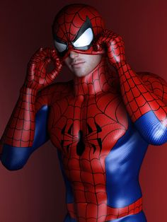 Spiderman - Spiderman/Peter Parker - Cosplay (spidey puts on mask. by SaphireNishi on DeviantArt) Spiderman Cosplay, Spiderman Spiderman, Costume Spider-man, Costumes, Male Cosplay, Best Cosplay, Amazing Spiderman, Men Dress Up, Marvel Art