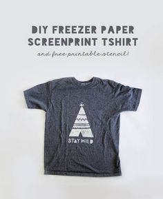 Right before we went on our weekend camping trip, I decided I needed a camping t-shirt! Months ago, I picked up this plain gray tshirt from the boys department at Walmart. It was in need of a spruce u