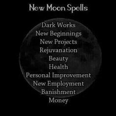 New moon spells