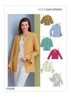 Vogue Patterns, Dress Patterns, Fall Patterns, Fashion Patterns, Clothing Patterns, Cardigan Pattern, Jacket Pattern, Top Pattern, Patron Simplicity
