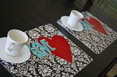 diy wipe-off placemats using iron-on vinyl