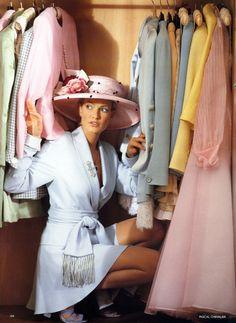 Karen Mulder by Packal Chevalier for Vogue UK 1990s