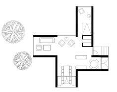 Four Corner Villa by Abanto Architects, in Virrat, Finland. 2.008.