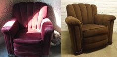 Rebuilt and Reupholstered channel backed chair