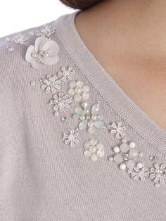 フラワービジュー袖BLニットP/O(ニット)|Cherite by PRIMEPATTERN(シェリエットバイプライムパターン)|ファッション通販 - ファッションウォーカー