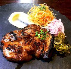적된장 숙성 돼지 목살 스테이크 Miso Marinated Pork Neck Steak