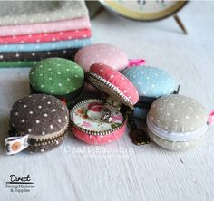 Home-made macaroon inspired coin purses!