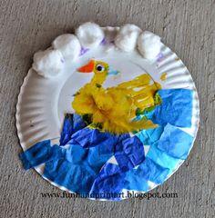 Handprint Duck Paper Plate Craft