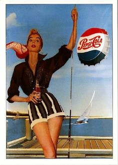 Coca Cola and vintage - Unbeatable for a combination! Vintage Advertising Posters, Vintage Advertisements, Vintage Posters, Pepsi Advertisement, Pin Up Posters, Poster Ads, Carolina Do Norte, Pub Vintage, Pin Up Girls