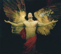 Thankful male angel