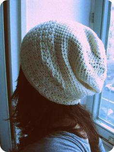 a cute slouchy crocheted hat