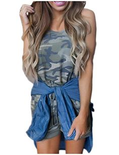 Comfy Women's Sexy Camouflage Sleeveless Romper Playsuit