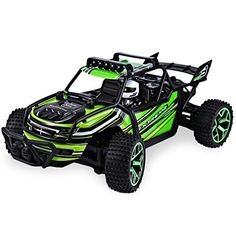 Hobby RC Trucks - Zhencheng 118 Scale Electric RC Offroad Truck 24Ghz 4WD High Speed Car Buggy Toy Vehiclewith DriverGreen >>> Check this awesome product by going to the link at the image.
